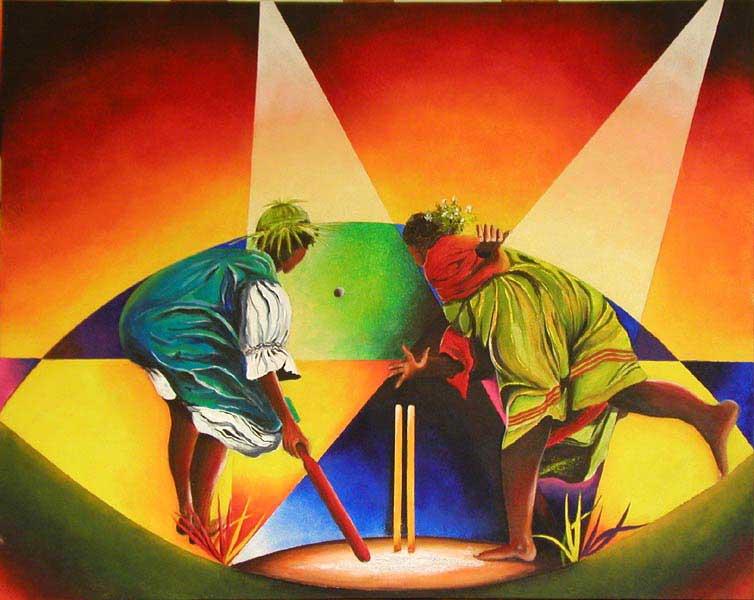 Les joueuses de cricket(vendu)