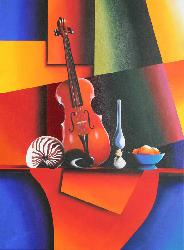 Nature morte au violon(vendu)