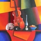 Nature morte au violon(vendu)