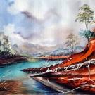 rivière bleue(vendu)