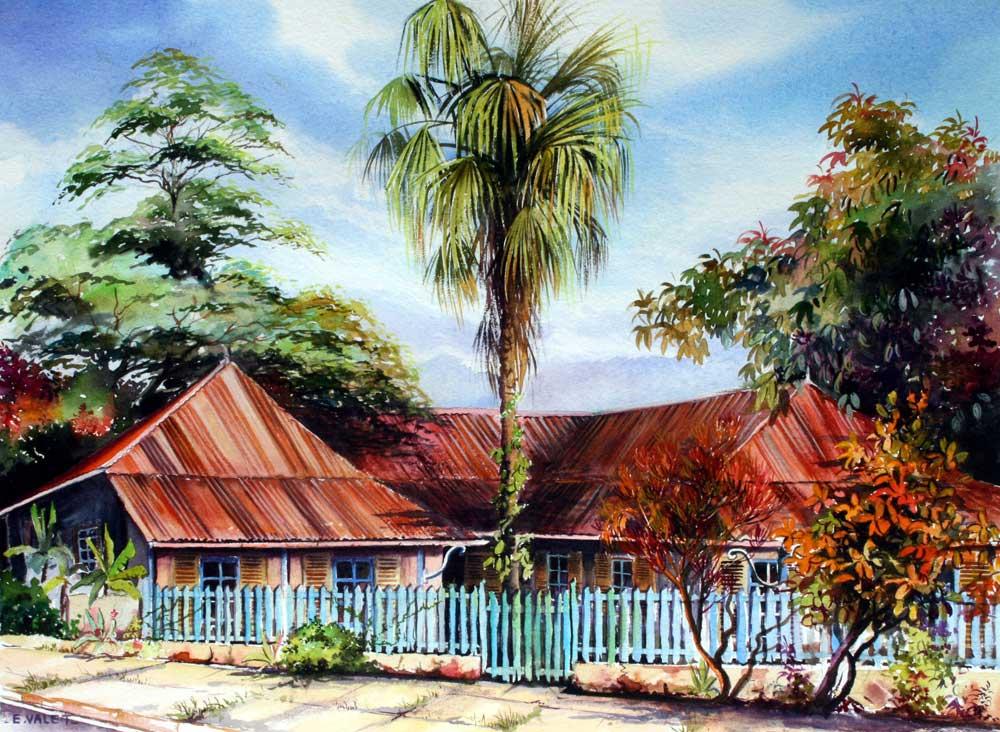 Maisons coloniales eric valet artiste peintre en for Constructeur de maison individuelle nouvelle caledonie