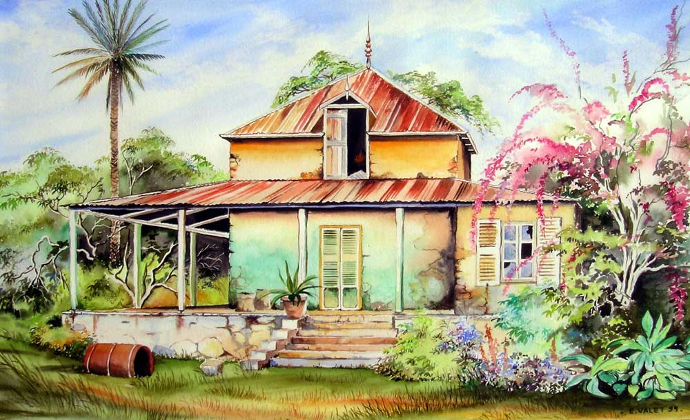 Maisons coloniales eric valet artiste peintre en - Plan de maison coloniale ...