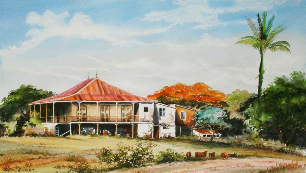 Maisons Coloniales Eric Valet Artiste Peintre En